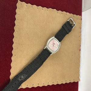 Hang Ten Accessories - Classic Vintage Hang 10 Ladies Watch Pink Black